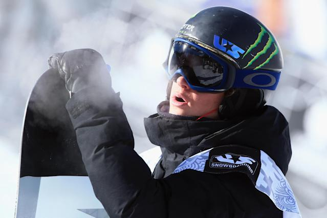 BRECKENRIDGE, CO - DECEMBER 14: Taylor Gold looks on as he finished third in the men's snowboard superpipe final at the Dew Tour iON Mountain Championships on December 14, 2013 in Breckenridge, Colorado. (Photo by Doug Pensinger/Getty Images)