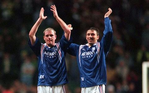 <span>McInnes used to play for Rangers. Here he is pictured with Paul Gascoigne in 1996</span> <span>Credit: action images </span>