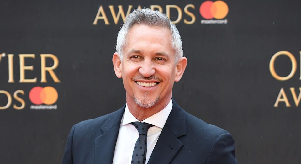 Gary Lineker at The Olivier Awards in London in 2018 (Getty)