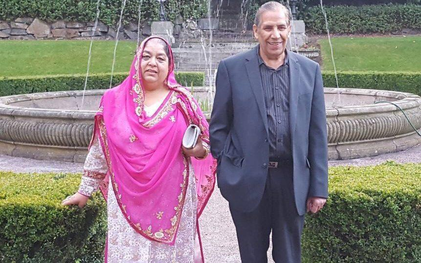 Nargis Begum pictured with her husband, Mohammed Bashir - Family handout/PA