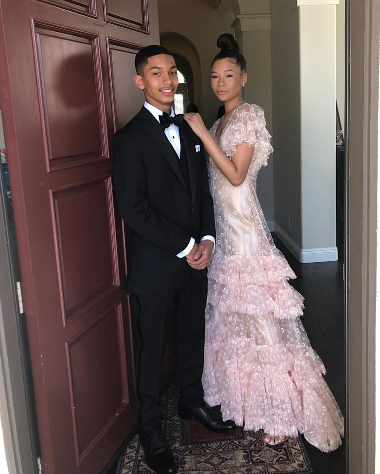 """<p>Actress Storm Reid looked like royalty in a pink sheer dress over a silk slip. She seemed to have a blast at prom, with Yara Shahidi's little brother, Sayeed,<a href=""""https://www.instagram.com/p/BwScBCSAUWv/"""" target=""""_blank""""> as documented on Storm's Instagram. </a></p><p>Of course, Yara is partially to thank for this epic couple. <a href=""""https://www.seventeen.com/prom/a29477/epic-celebrity-promposals-you-need-to-see-now/"""" target=""""_blank"""">The <em>Grown-ish </em>star helped Sayeed, ask Storm</a> to the dance, and thank god she did, because this is one gorgeous couple!<em></em></p>"""