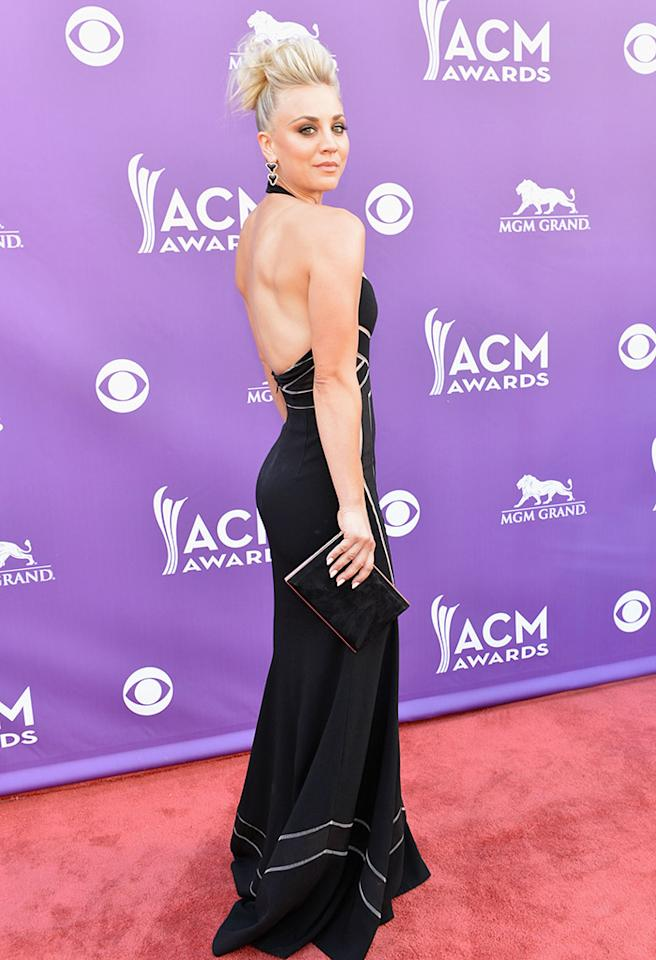 LAS VEGAS, NV - APRIL 07:  Actress Kaley Cuoco attends the 48th Annual Academy of Country Music Awards at the MGM Grand Garden Arena on April 7, 2013 in Las Vegas, Nevada.  (Photo by Rick Diamond/ACMA2013/Getty Images for ACM)