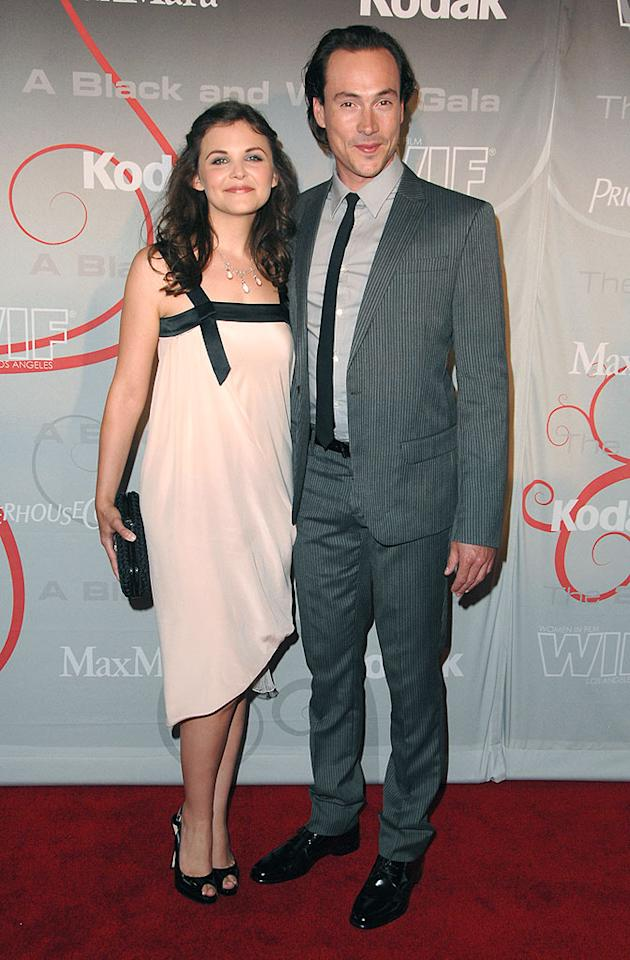 """Face of the Future"" Award winner Ginnifer Goodwin cozied up to beau Chris Klein. His skinny tie - which matched her dress - was a cute touch. Steve Granitz/<a href=""http://www.wireimage.com"" target=""new"">WireImage.com</a> - June 17, 2008"