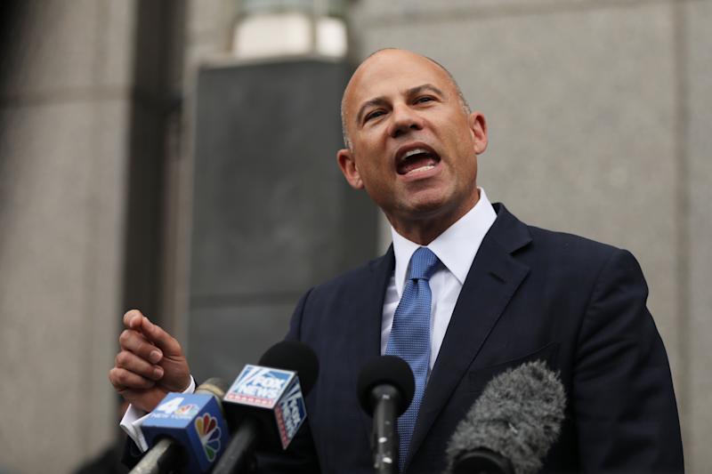 Michael Avenatti speaks to the media outside of a New York court house on July 23, 2019 in New York City. (Spencer Platt/Getty Images)