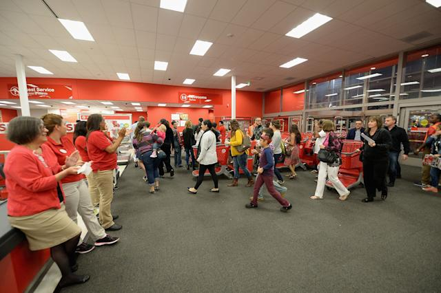 Black Friday shoppers arrive at a Target in Miami in 2014.