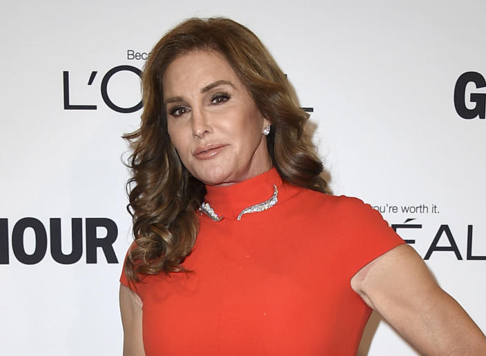 FILE - In this Nov. 14, 2016 file photo, Caitlyn Jenner arrives at the Glamour Women of the Year Awards in Los Angeles. Jenner says she will run for governor of California. Jenner says in statement posted Friday on Twitter that she has filed initial paperwork to run. Democratic Gov. Gavin Newsom is facing a likely recall election this year. Election officials are still reviewing petition signatures required to qualify the recall for the ballot. (Photo by Jordan Strauss/Invision/AP, File)