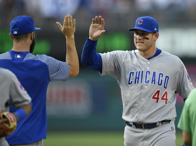 Anthony Rizzo gave $3.5 million to Lurie Children's Hospital in Chicago. (AP Photo/Nick Wass)