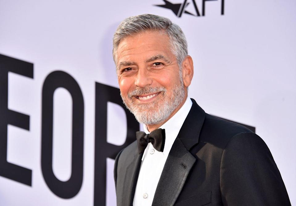 "<p>While filming <em>Catch-22 </em>in Olbia, Italy, Clooney collided with a Mercedes while riding his motorcycle at 70 miles per hour. He told <a href=""https://www.hollywoodreporter.com/news/george-clooney-team-tackling-hulus-world-war-comedy-catch-22-1212248"" rel=""nofollow noopener"" target=""_blank"" data-ylk=""slk:The Hollywood Reporter"" class=""link rapid-noclick-resp""><em>The Hollywood Reporter</em></a>, ""It split my helmet in half, it knocked me out of my shoes. I was hit hard. I was just waiting for the switch to turn off because I broke his windshield with my head, and I thought, 'Okay, well, that's my neck.' If you get nine lives, I got all of them used up at once—so I can let go of motorcycle riding for a while.""</p>"