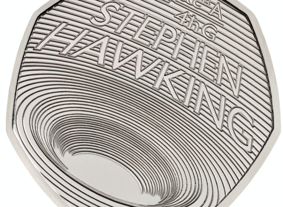 Professor Stephen Hawking's work on black holes has been commemorated on a new 50p (Picture: PA)
