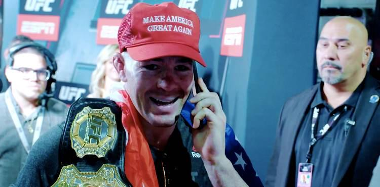 Colby Covington talking to Donald Trump