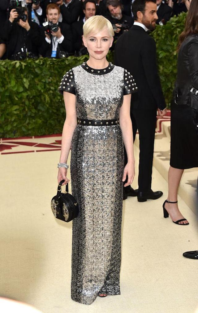 <p>Williams glistened in a silver Louis Vuitton look. (Photo: Getty Images) </p>
