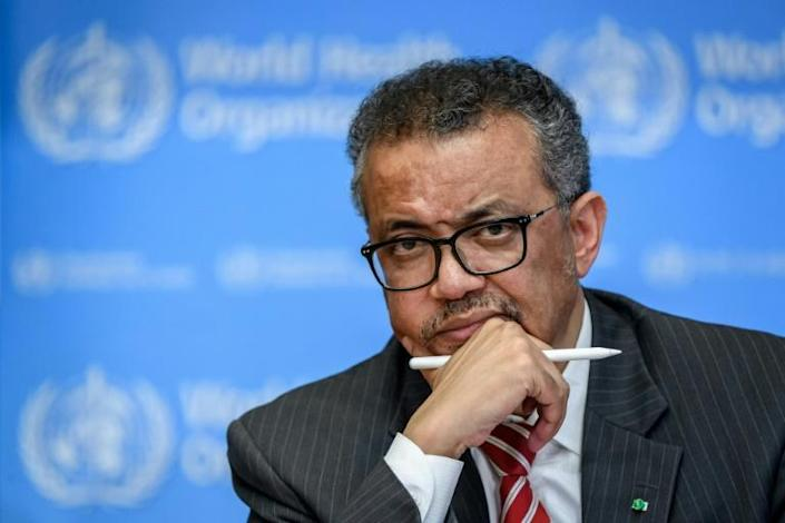 The coronavirus pandemic, combined with the halt in US funding, marks the biggest challenge to date for World Health Organization chief Tedros Adhanom Ghebreyesus (AFP Photo/Fabrice COFFRINI)