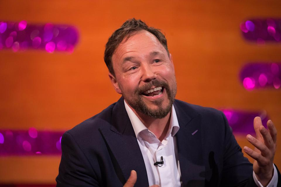 Stephen Graham during the filming for the Graham Norton Show at BBC Studioworks 6 Television Centre, Wood Lane, London, to be aired on BBC One on New Year's Eve.