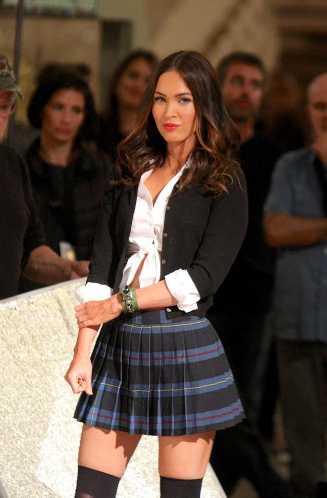 <p>The <em>Teenage Mutant Ninja Turtles 2</em> actress — who rocked a schoolgirl look while filming that movie — seems like someone who might spend a lot of time in detention. Her offense would probably be breaking the dress code by showing a little too much skin. (Photo: Jose Perez/Splash News) </p>