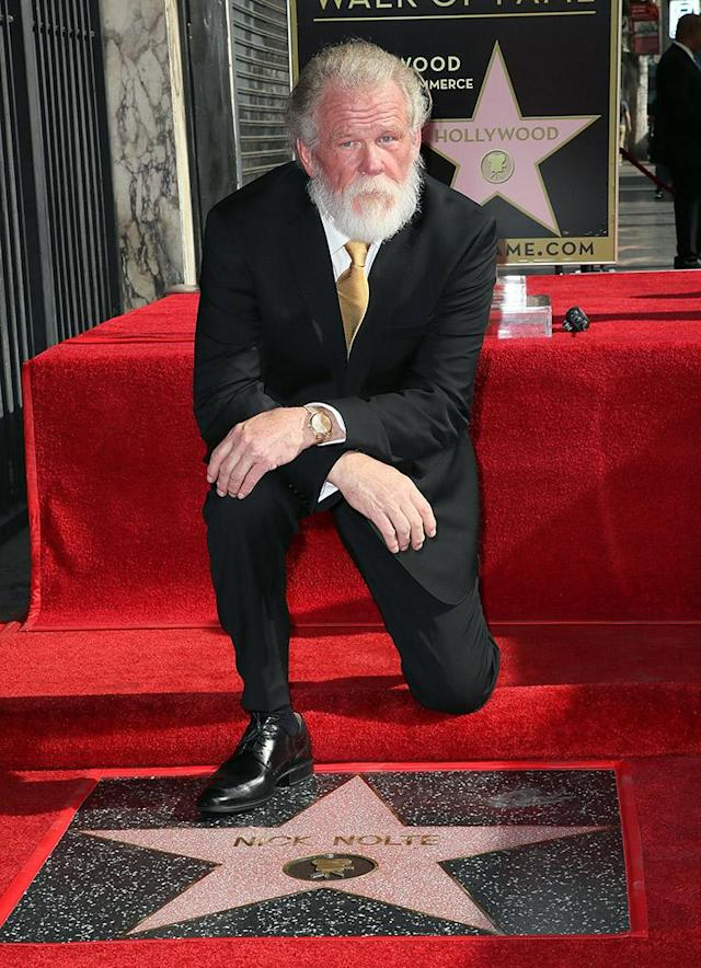 <p>The TV and movie star struck a disntiguished posed, as he was honored with a star on the Hollywood Walk of Fame on Monday in Hollywood. (Photo by David Livingston/Getty Images) </p>