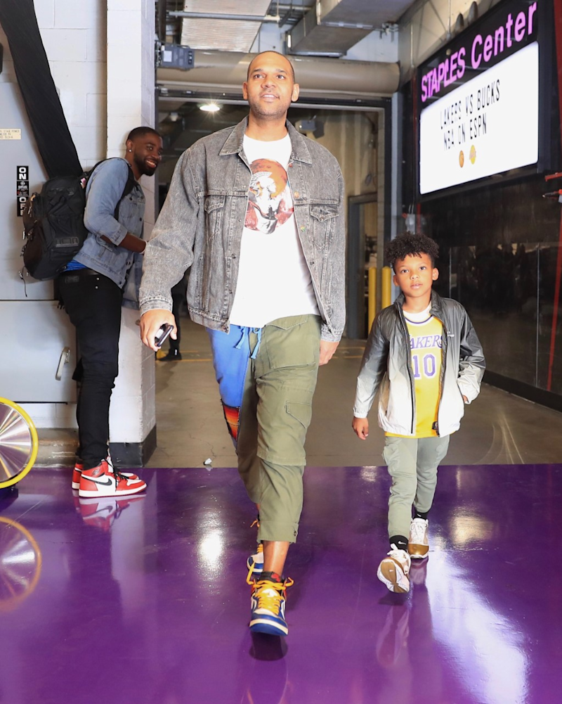 Jared Dudley and his son, Juju.