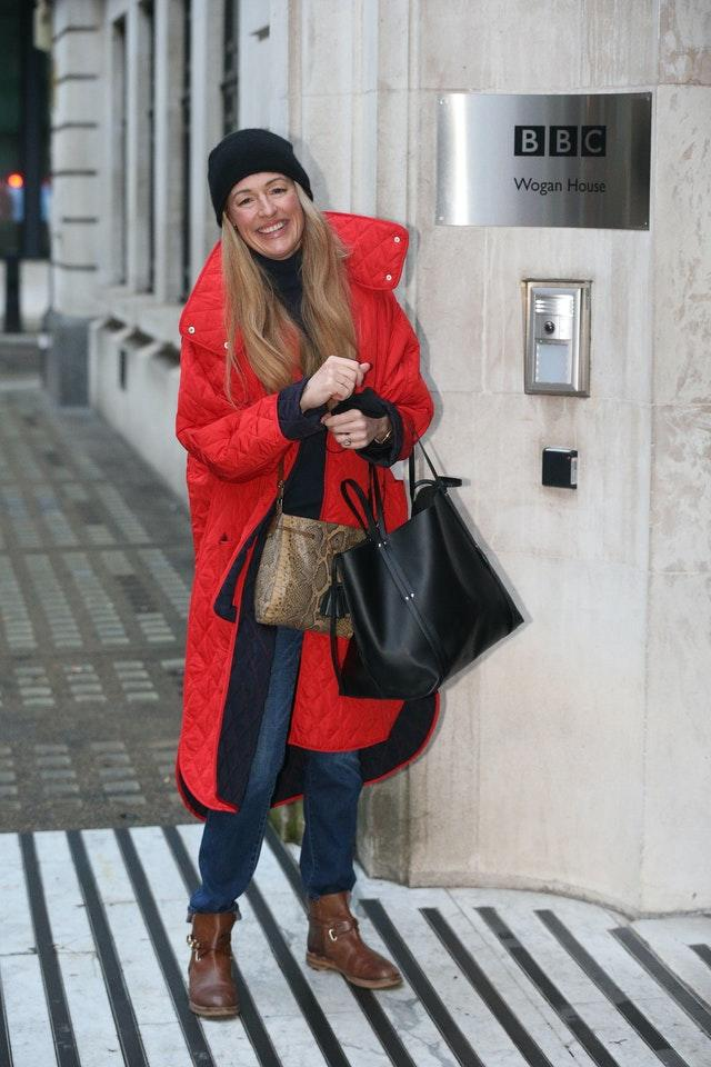 Cat Deeley arrives at Wogan House in London to make her BBC Radio 2 debut