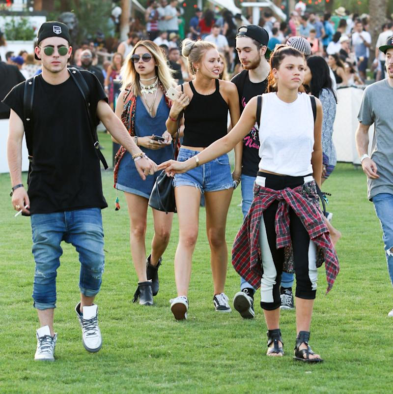 Sofia Richie attends the Coachella Music Festival in Indio, California.