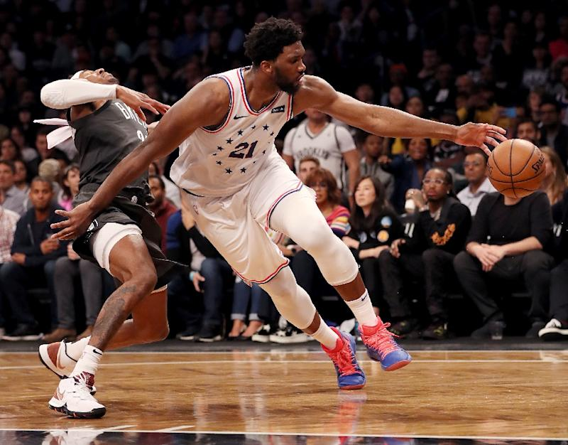 Joel Embiid was again immense for Philadelphia, hauling in 13 rebounds to go with his 23 points in a 122-120 blowout against the Brooklyn Nets