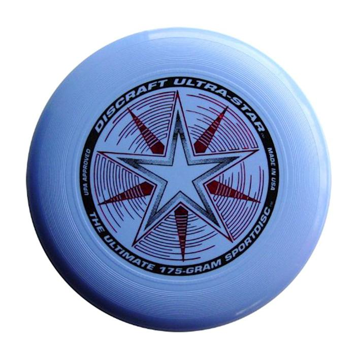 """<p><a class=""""link rapid-noclick-resp"""" href=""""https://www.amazon.com/Discraft-Ultra-Sport-Bright-Orange/dp/B0014LZVU8/ref=sr_1_4?tag=syn-yahoo-20&ascsubtag=%5Bartid%7C10063.g.34738490%5Bsrc%7Cyahoo-us"""" rel=""""nofollow noopener"""" target=""""_blank"""" data-ylk=""""slk:BUY NOW"""">BUY NOW</a><br></p><p>What started as an idea in 1938 on a beach near Los Angeles became a full-fledged business in 1954 when Fred Morrison formed his own company (American Trends) to produce and sell his own flying saucers. He sold the rights to Wham-O in 1957, who gave the discs the brand name of """"Frisbee."""" </p><p>The success of the Frisbee really took off in 1964 when the VP and general manager of Wham-O decided to enhance the design of the disc with a thicker rim so you could throw more accurately.</p>"""