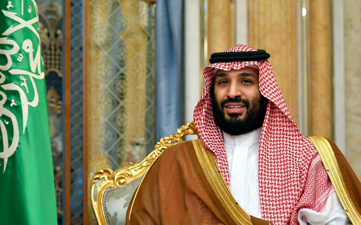 Saudi Arabia's Crown Prince Mohammed bin Salman spoke for the first time since the air strikes - Pool AFP