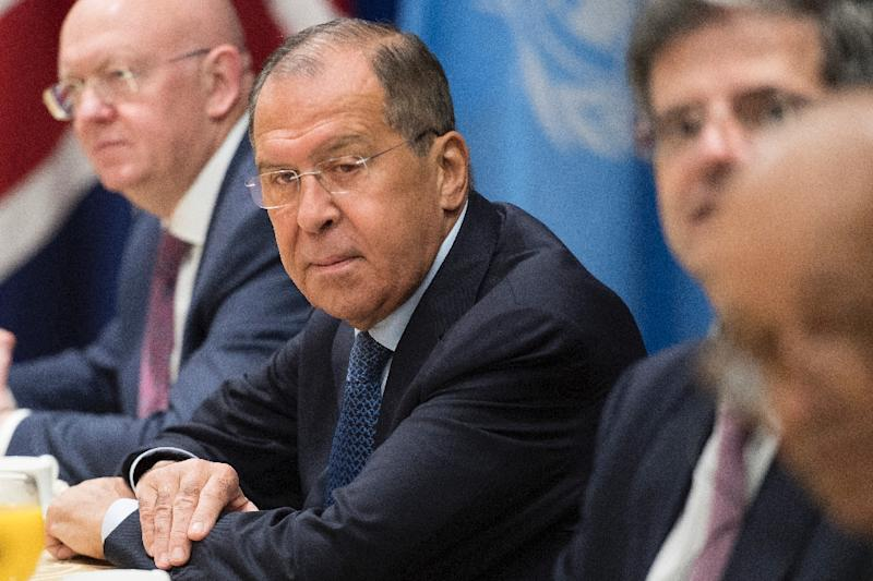 Russian Foreign Minister Sergei Lavrov told the United Nations Security Council that it was time to send a positive signal to North Korea (AFP Photo/Jim WATSON)