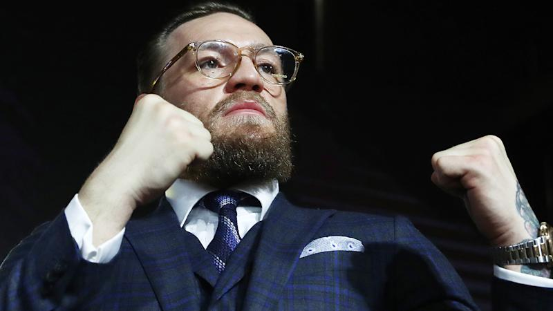 Conor McGregor revealed in an interview that he had spent the week before his infamous 2018 bout with Khabib Nurmagomedov drinking. (Photo by Stanislav Krasilnikov\TASS via Getty Images)