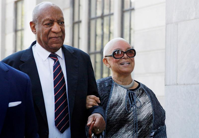 FILE PHOTO: Actor and comedian Bill Cosby arrives with his wife Camille for his sexual assault trial at the Montgomery County Courthouse in Norristown, Pennsylvania, U.S., June 12, 2017. REUTERS/Brendan McDermid/File Photo