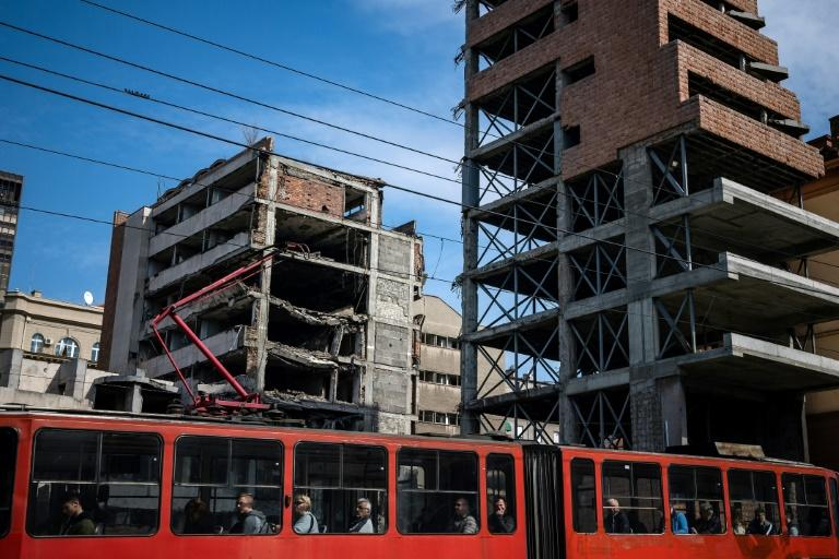 The former interior ministry in Belgrade, bombed 20 years ago