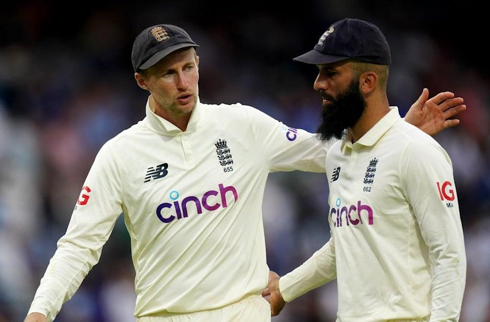 Joe Root, left, had warm words for Moeen Ali, who has announced his retirement from Test cricket (Zac Goodwin/PA) (PA Wire)