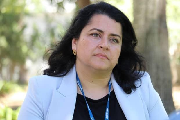 Ahseea Ahmed, head of protection and neutrality in Gaza for the United Nations Relief and Works Agency for Palestine Refugees in the Near East, says 8,000 people displaced by the recent fighting are now homeless.