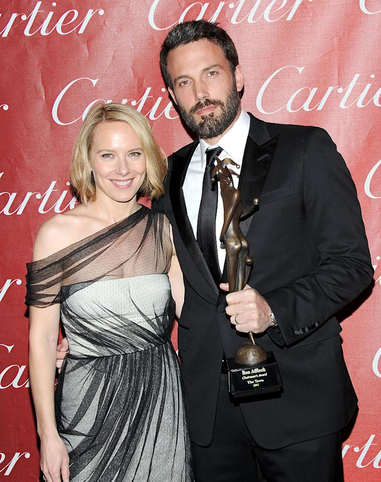 """<a href=""""http://movies.yahoo.com/movie/contributor/1800024239"""">Amy Ryan</a> and <a href=""""http://movies.yahoo.com/movie/contributor/1800018969"""">Ben Affleck</a> attend the 22nd Annual Palm Springs Film Festival Awards Gala in Palm Springs on January 8, 2011."""