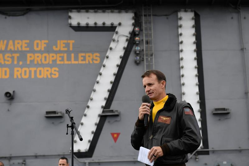 U.S. Navy Capt. Brett Crozier. (Photo: ASSOCIATED PRESS)
