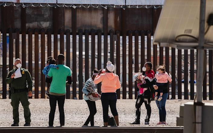 The Biden administration is struggling to handle the number of migrants attempting to cross the US border - Getty Images