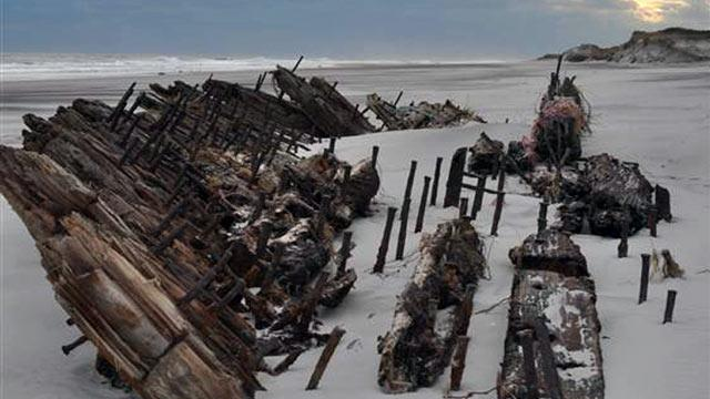 Shipwreck Uncovered By Superstorm