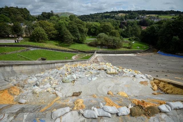 Toddbrook Reservoir damaged