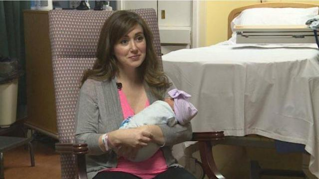 Dr. Amanda Hess was in the hospital preparing to give birth to her own baby when she realized another patient needed her help. (Photo: WKYT)