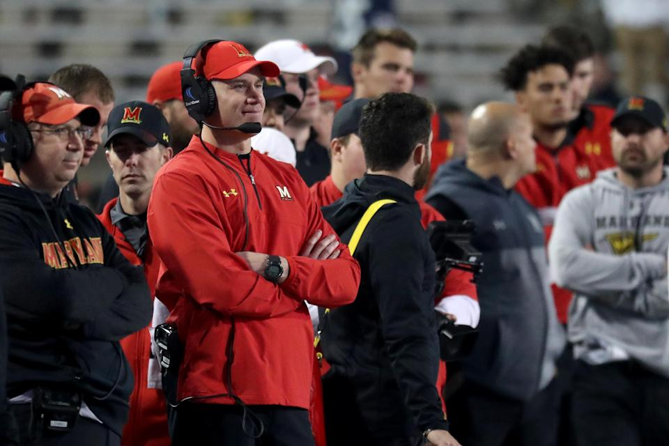 An ESPN report detailed a 'toxic culture' surrounding the Maryland football program under coach D.J. Durkin, even before the death of offensive lineman Jordan McNair — who died earlier this year after collapsing during a team workout. (Getty Images)