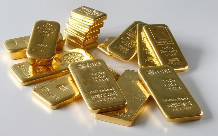 Gold Bars From The Vault Of A Bank Are Seen In This Ilration Picture Taken