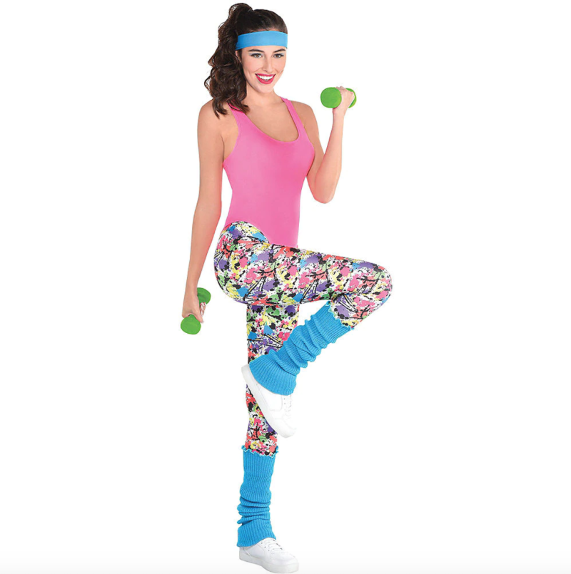 Adult Exercise Costume Accessory Kit. Image via Party City.