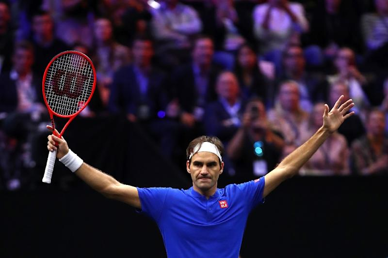 Vintage Federer again dazzles Kyrgios at the Laver Cup