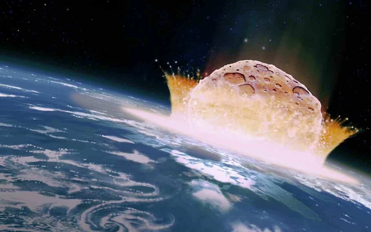 "Nasa has drawn up plans for a huge nuclear spacecraft capable of shunting or blowing up an asteroid if it was on course to wipe out life on Earth. The US space agency published details of its Hammer (Hypervelocity Asteroid Mitigation Mission for Emergency Response) deterrent, an eight tonne spaceship which could deflect a giant space rock. Nasa has said previously that Earth is overdue a huge asteroid strike and programmes are in places across the globe to map dangerous rocks as they move through the Solar System. Last year an 100 foot asteroid named 2012TC4 passed within 27,000 miles of Antarctica, a distance that astronomers described as 'damn close.' In detailed plans published in the journal Acta Astronautica, Nasa and the National Nuclear Security Administration, calculated the time and payload it would take to move or destroy the 1,600-foot-wide asteroid Bennu.  Nasa's Osiris-Rex mission is already heading to Bennu to take samples  Credit: Nasa Nasa already has a space probe on route to Bennu to take samples and has been monitoring the asteroid since it was discovered in 1999. Although there is little risk it could hit the Earth, it is still considered as an NEO, or Near Earth Object, which would hit the planet with 1,450 megatons of TNT. The Atomic Energy Commission has shown that a one gigaton warhead detonated about 10 miles up could be expected to start fires over an area of more than 430,000 square miles, an area more than four times the size of Britain. Dante Lauretta, professor of Planetary Science in the Lunar and Planetary Laboratory at the University of Arizona, said  Bennu's impact would release ""three times more energy than all nuclear weapons detonated throughout history"". ""The impact would release energy equivalent to 1,450 megatons of TNT,"" he said. ""For comparison, the fission bombs used in World War II had an energy release of roughly 20 kilotons of TNT each and the most powerful nuclear weapon ever detonated, the Russian Tsar Bomba, had a yield of 50 megatons.""  The Hammer spacecraft within a Delta-IV rocket  Credit: Nasa However the study showed that Earth would need years of warning to be able to put a deterrent plan in action. The experts calculate that 7.4 years would be needed from building Hammer, to the craft hitting the asteroid. Earth is hit by asteroids with surprising regularity but most are too small to do much damage or fall in unpopulated areas. In 2013, a meteor airburst over Chelyabinsk, Russia, broke shattered windows for over 300 miles. Asteroid near-misses Nasa's Centre for Near-Earth Object Studies now lists 73 asteroids which have a 1 in 1,600 chance of hitting the Earth. Teams from across the world are working on similar deterrents. Earlier this week a team of Russian researchers from Rosatom, the state nuclear energy corporation, and Moscow Institute of Physics and Technology (MIPT), announced they had constructed and blown up tiny asteroids in the lab to calculate how much power it would take to prevent a devastating impact. Using laser pulses to simulate the effect of a nuclear bomb they found that to eliminate a 650 foot wide asteroid, the blast would need to deliver the energy equivalent of three megatons of TNT - the equivalent of 200 Hiroshima bombs. The most powerful explosive device ever detonated was the Tsar Bomba, or ""king of bombs,"" built by the Soviet Union in 1961 which had an energy output of about 50 megatons of TNT. ""At the moment, there are no asteroid threats, so our team has the time to perfect this technique for use later in preventing a planetary disaster,"" says study co-author Vladimir Yufa, an associate professor at the departments of Applied Physics and Laser Systems and Structured Materials, MIPT. ""We're also looking into the possibility of deflecting an asteroid without destroying it and hope for international engagement."""