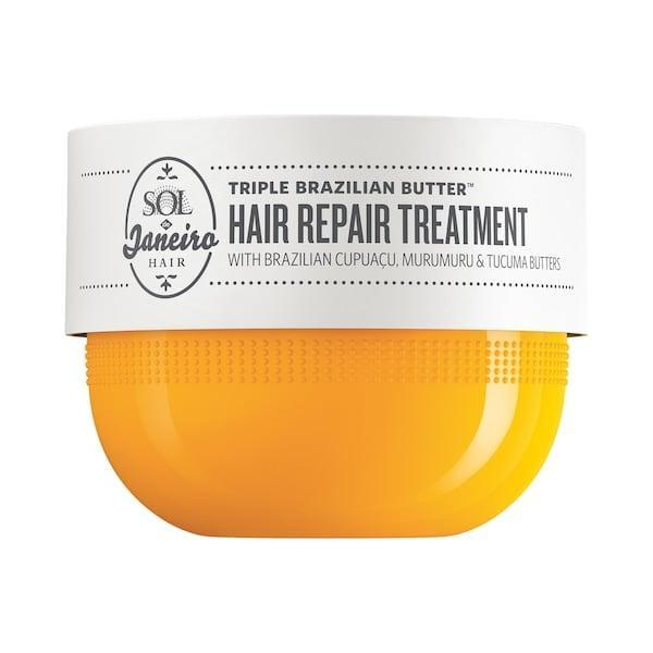 <p>If you love the scent of <span>Brazilian Bum Bum cream</span>, this new <span>Sol de Janeiro Triple Brazilian Butter Hair Repair Treatment Mask</span> ($36, available in January) adds that aroma to a smoothening mask featuring plant-based keratin, and cupuaçu, murumuru, and tucumã butters.</p>