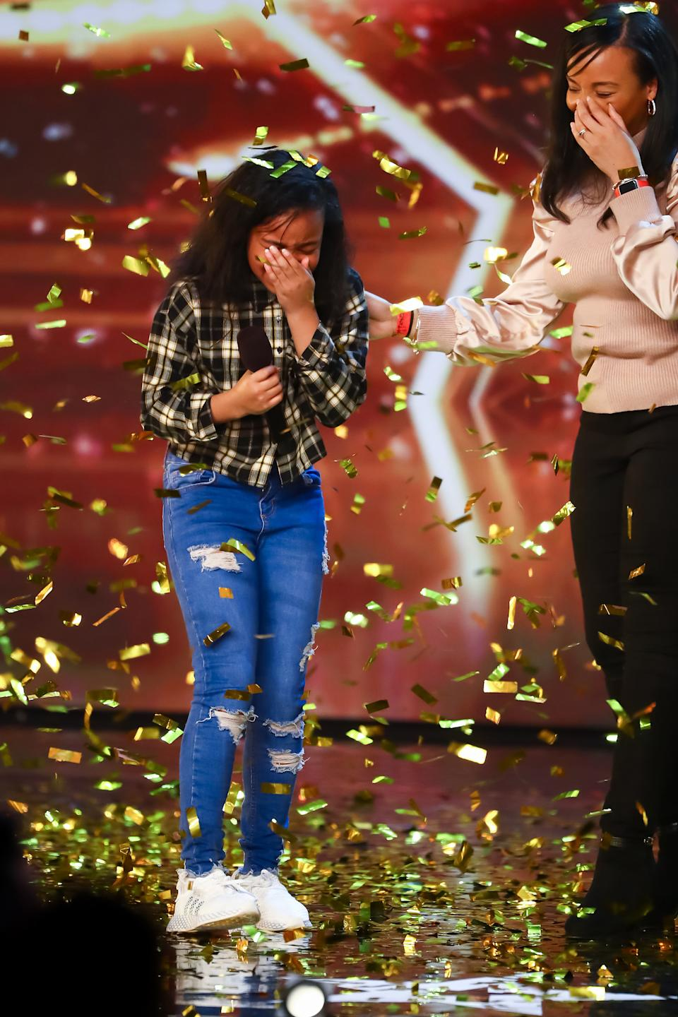 Fayth Ifil gave a powerful rendition of Proud Mary and won over Simon Cowell. (ITV)