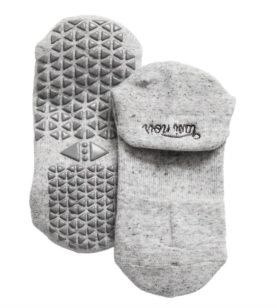 <p>If you like to wear socks during Pilates, picking a pair with a grippy bottom to prevent slipping is super important. These <span>Tavi Noir Savvy Grip Socks</span> ($12), sold by Athleta, are a good basic option.</p>