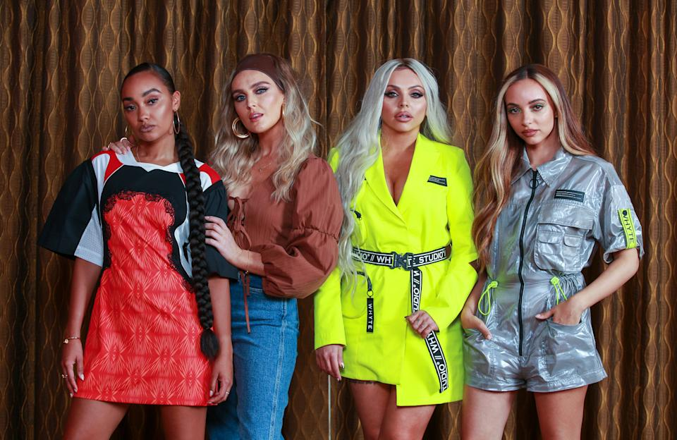 JULY 1, 2019: SYDNEY, NSW - (EUROPE AND AUSTRALASIA OUT) (L-R) Leigh-Anne Pinnock, Perrie Edwards, Jesy Nelson and Jade Thirlwall of Little Mix pose during a photo shoot in Sydney, New South Wales. (Photo by Justin Lloyd / Newspix / Getty Images)