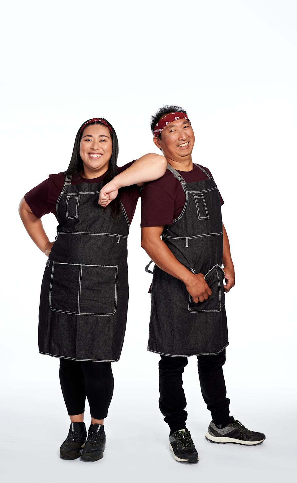 The Amazing Race Australia 2021 contestants Jobelle and Rani, VIC. Photo: Channel 10 (supplied).