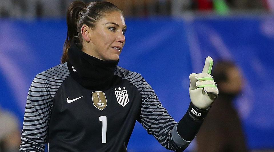 """<p>Former U.S. women's national team goalkeeper Hope Solo debuted as Eurosport's """"Commissioner of Women's Football"""" on Thursday ... and it got weird. </p><p>The female counterpart to Eric Cantona, <a href=""""https://www.si.com/planet-futbol/2016/06/25/will-griggs-on-fire-eric-cantona-video"""" rel=""""nofollow noopener"""" target=""""_blank"""" data-ylk=""""slk:who gives his own unique rants and ramblings on the platform"""" class=""""link rapid-noclick-resp"""">who gives his own unique rants and ramblings on the platform</a>, Solo has been hired by the outlet to provide commentary on the sport, timed with Thursday's UEFA Women's Champions League final, and she used her opening segment to give her thoughts on a wide range of targets.</p><p>In her debut, she poked fun at herself and the use of the word """"cowards,"""" took aim at U.S. Soccer for the CBA deal it struck with the women's national team and even had at Lionel Messi and Neymar regarding their respective tax evasion cases.</p><p>Watch for yourself: </p><p>This is just the beginning, too.</p><p>Solo's suspension from U.S. Soccer ended February, and she is eligible for reinstatement after having her national team contract terminated following a post-Olympics-elimination outburst at the Swedish national team, but there have been no indications that a return is imminent. Solo is out for the NWSL season after undergoing shoulder replacement surgery last September.</p>"""