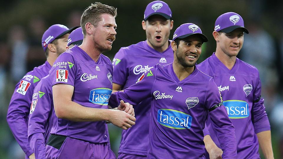 James Faulkner's relationship with the Hobart Hurricanes appears to be at an acrimonious end. (Photo by Jason McCawley - CA/Cricket Australia via Getty Images)
