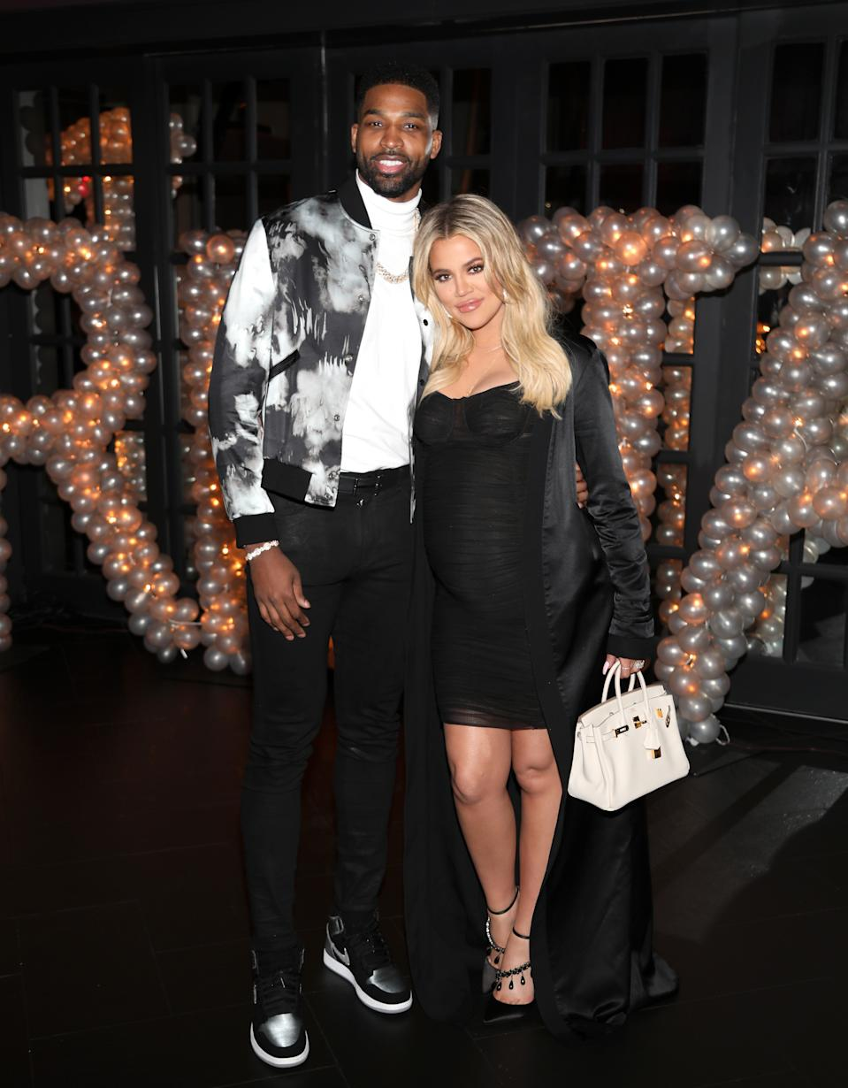 """Khloe Kardashian says she's """"proud"""" of the co-parenting place she's in with ex-boyfriend Tristan Thompson. (Photo: Jerritt Clark/Getty Images for Remy Martin)"""